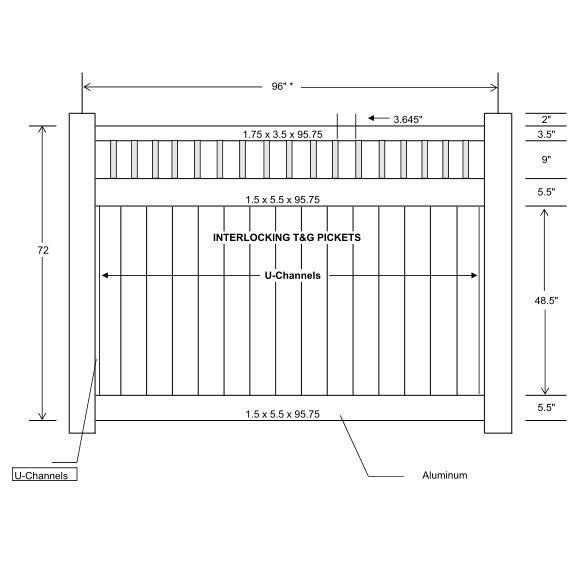 Vinyl Privacy Fence With Slats Ohio Fence Company